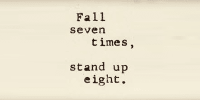 fall seven time stand up 8
