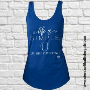 softball tank top graphic